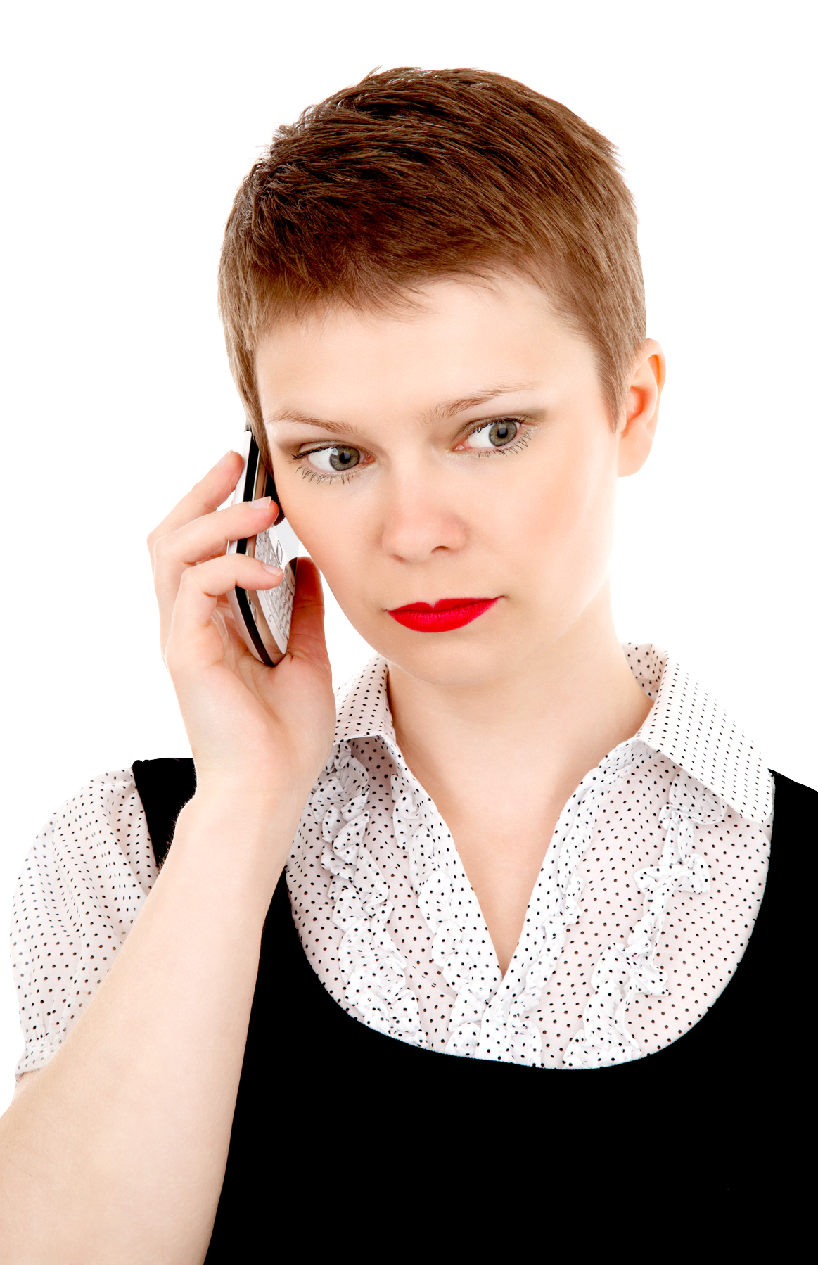 Business-Woman-on-Mobile-Phone-PNG-image